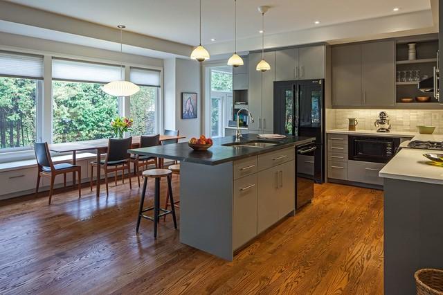 美式乡村风格200平米别墅浪漫卧室厨房餐厅一体设计图片
