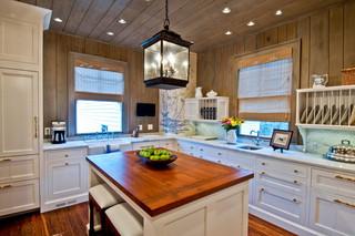 美式乡村风格三层连体别墅小清新整体厨房颜色装修