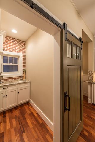 美式乡村风格客厅200平米别墅浪漫婚房布置厨房隔断效果图