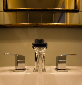 欧式风格2013别墅及时尚室内一体式台盆效果图