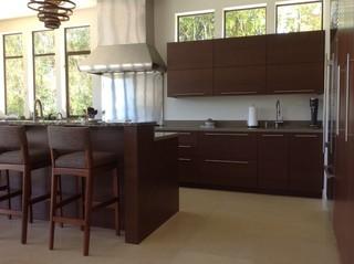 地中海风格家具三层双拼别墅大气开放式厨房餐厅效果图