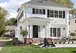 北欧风格三层半别墅豪华花园装修图片