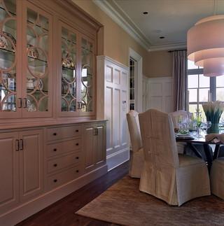 中式风格卧室3层别墅稳重咖啡色效果图