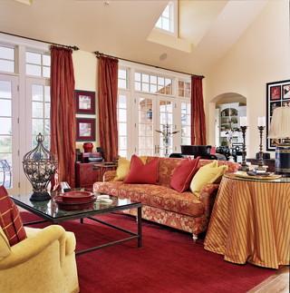 中式风格2014年别墅温馨装饰红色橱柜装修效果图