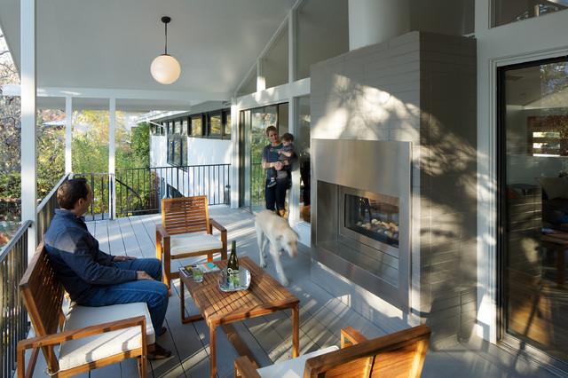 北欧风格卧室2层别墅小清新露台阳光房设计