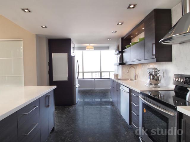 欧式风格一层别墅及大气整体厨房颜色改造