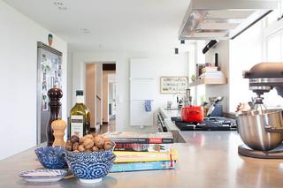 美式乡村风格卧室三层连体别墅简洁卧室整体厨房吊顶改造