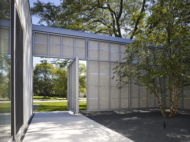 美式风格卧室三层平顶别墅大气庭院围墙装修图片