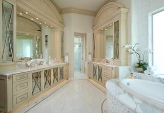 地中海风格室内一层半小别墅大气白色门装修图片