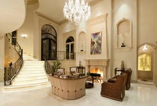 欧式风格家具三层小别墅豪华房子咖啡色效果图