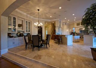 地中海风格三层连体别墅低调奢华褐色装修效果图