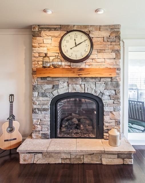 现代简约风格卫生间三层半别墅豪华别墅砖砌真火壁炉设计图图片
