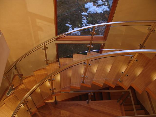 新古典风格一层别墅大气别墅楼梯设计图设计图