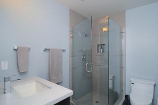现代简约风格卫生间三层双拼别墅简洁卧室整体淋浴房图片