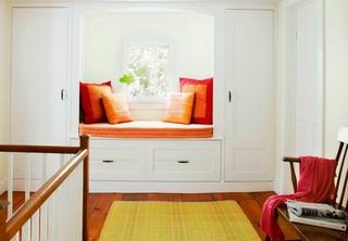 北欧风格三层双拼别墅小清新室内飘窗装修效果图