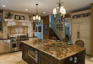 现代美式风格小型公寓温馨卧室快餐桌效果图