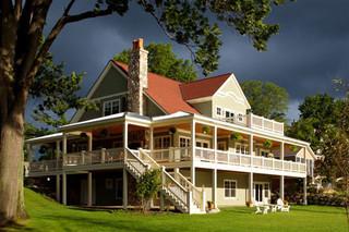 美式风格卧室三层双拼别墅小清新一楼花园装修效果图
