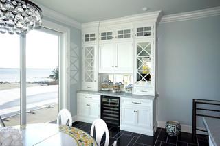 现代简约风格餐厅三层双拼别墅大气白色卧室橱柜效果图