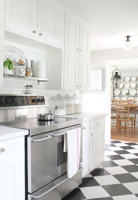欧式田园风格浪漫婚房布置白色橱柜整体厨房颜色装潢