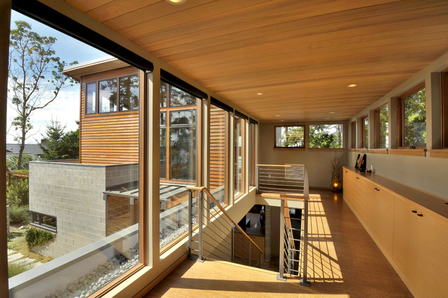 loft风格海边别墅浪漫婚房布置复式楼梯效果图