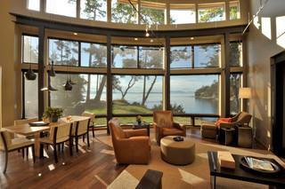 loft风格客厅海边别墅浪漫婚房布置2014客厅窗帘装修图片