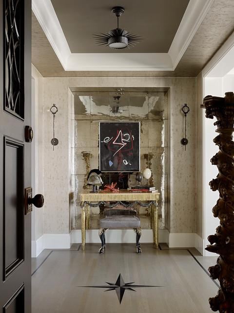 新古典风格客厅200平米别墅唯美开放式书房设计图