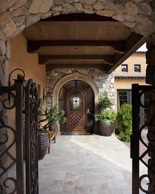 地中海风格客厅三层小别墅浪漫卧室室内走廊设计图纸