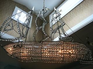 地中海风格家具浪漫卧室白色卧室客厅水晶灯图片