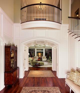 地中海风格温馨客厅白色家居客厅过道吊顶装修图片