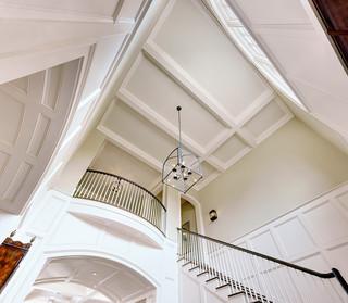 地中海风格温馨装饰白色欧式别墅楼梯设计图设计图纸