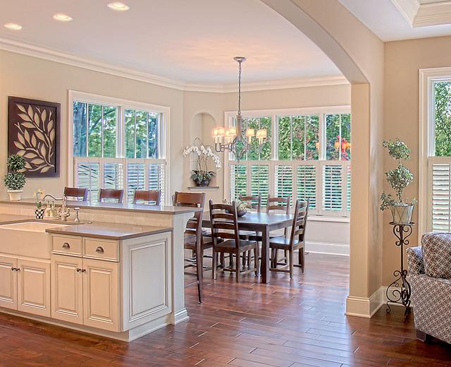 浪漫婚房布置效果图白色简欧风格装修效果图欧式开放式厨房装修效果图图片