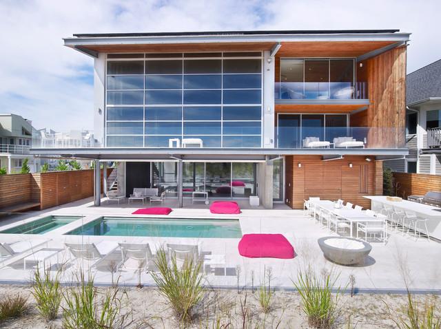 现代简约风格卫生间海边别墅时尚简约别墅游泳池设计