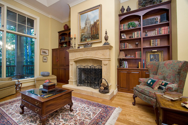 现代美式风格美式别墅及欧式奢华砖砌真火壁炉设计图效果图图片