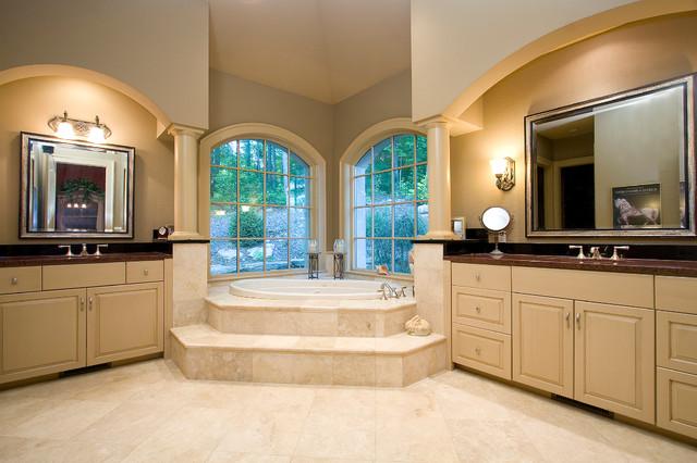美式风格卧室美式别墅及低调奢华品牌按摩浴缸效果图