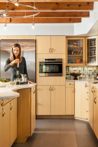 时尚家具原木色家居2平米厨房开放式厨房吧台装修效果图