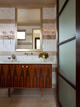 现代简约风格厨房海边别墅时尚卧室装饰洗手台效果图