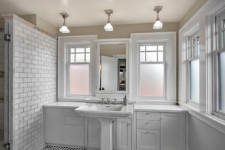 混搭风格客厅时尚家居装饰灰色窗帘洗手台效果图