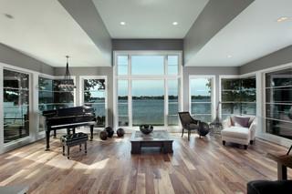 现代简约风格卧室度假别墅客厅豪华玻璃阳光房设计图