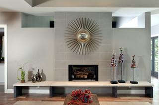 现代简约风格客厅度假别墅豪华别墅大理石背景墙设计