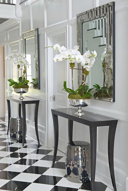 简欧风格家具欧式别墅时尚简约客厅黑白红室内中式玄关装修图片