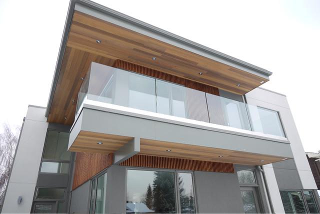 现代简约风格50平小复式楼时尚简约客厅阳台护栏改造