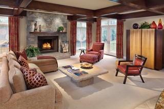 小户型简欧风格200平米别墅豪华客厅沙发摆放设计图纸