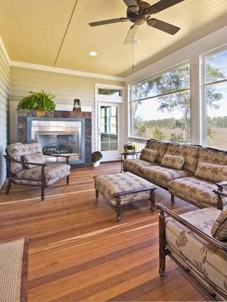 木水混搭风格小型公寓原木色家居装修效果图