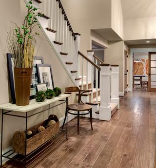 混搭风格客厅单身公寓设计图10-15万130平米家庭客厅楼梯装修效果图