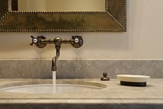 地中海风格家具单身公寓厨房15-20万130平米三室两厅洗手台图片