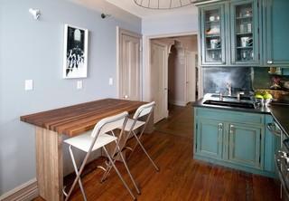 美式乡村风格客厅复式二楼蓝色15-20万70平米两室一厅效果图