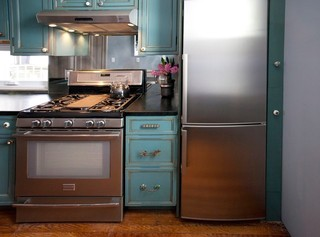 美式乡村风格复式大厅15-20万70平米小户型2012家装厨房装修图片