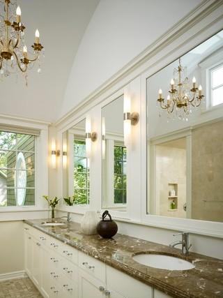 田园风格窗帘三层连体别墅120平米房屋洗手台效果图