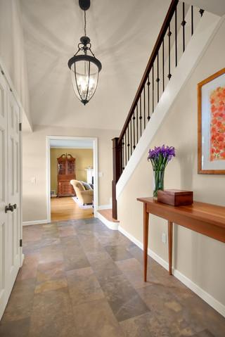 简约风格电视背景墙富裕型140平米以上客厅过道效果图
