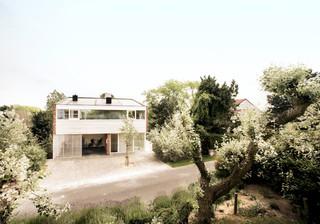 现代简约风格卧室富裕型140平米以上室内入户花园改造